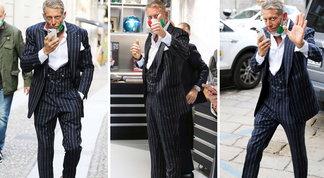 Lapo Elkann fa il dandy italiano a Milano