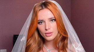 Bella Thorne posa con un velo da sposa, nozze in vista conBenji?