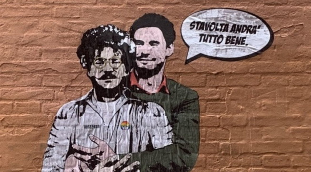 Bologna, torna il poster di Giulio Regenie Patrick Zaki