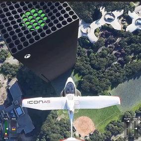 Videogiochi: una Xbox Series X di 200 metri compare in Flight Simulator