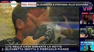 Pierpaolo Pretelli scoppia a piangere dopo una lite con Elisabetta Gregoraci