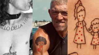 Un chupito per Belen, una rosa per Justin Bieber, e la Ferragni.... Ecco gli ultimi tatuaggi sulla pelle dei vip