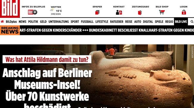 Shock a Berlino, sfregiate 63 opere d'arte nei musei della Museumsinsel