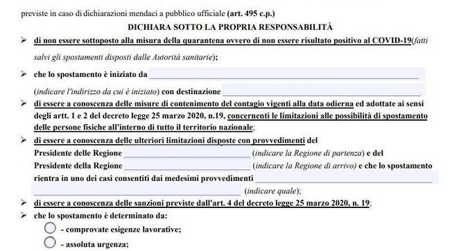 Autocertificazione da coprifuoco in Lombardia, Campaniae Lazio | Scarica il modulo