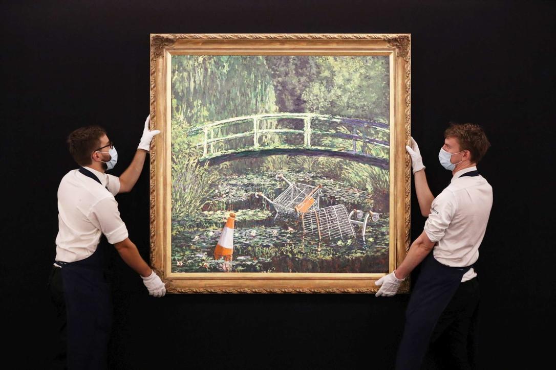 Dipinto di Banksy ispirato a Monet venduto all'asta