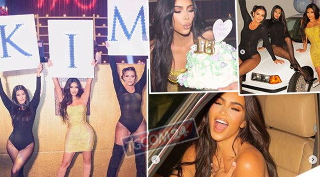 Quaranta feste a sorpresa per il compleanno di Kim Kardashian
