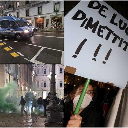 Manifestazioni anti-Dpcm da nord a sud, violenti scontri a Milano: 28 in questura   Alta tensione a Trieste, Torino e Napoli