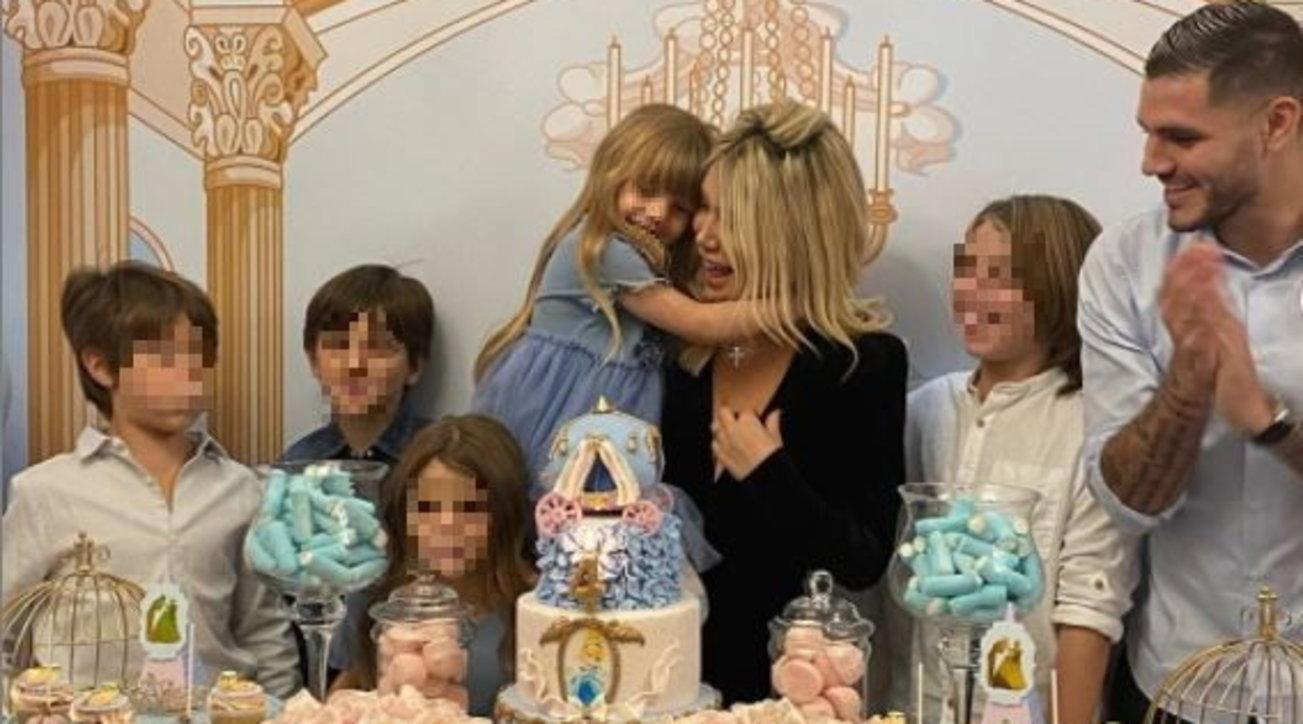 Festa principesca in casa di Wanda Nara per il compleanno della figlia Isabella