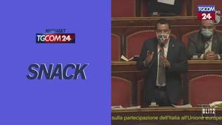 Salvini si toglie la mascherina in Senato: Calderoli lo costringe a rimettersela