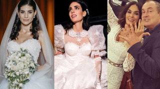 Matrimoni di ottobre: dalla Berlusconi alla Cucinotta ecco i look da sogno delle spose vip