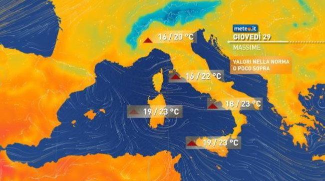 Sole e temperature in aumento fino a domenica in tutta Italia | Formazione di nebbie al Centro-Nord