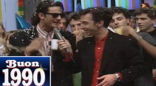 Buon compleanno Linus: rivediamolo nel 1990 con Fiorello, Amadeus e Pieraccioni