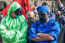 """""""Rip cultura"""", la protesta degli artisti per le chiusure anti-Covid"""