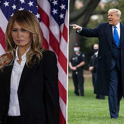 ملانیا کاخ سفید را ترک می کند ... و ترامپ را طلاق می دهد؟