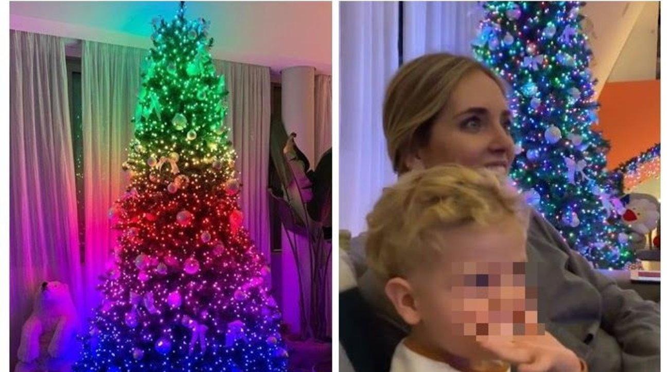 A casa dei Ferragnez è già Natale, guarda che albero multicolor