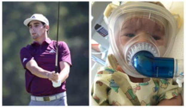 """Il golfista Niemann: """"Mio cugino di un mese ha l'atrofia muscolare spinale, la terapia costa 2 mln di dollari: aiuto"""""""