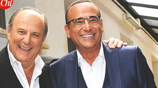 """Gerry Scotti e Carlo Conti: """"Il Covid ha rafforzato la nostra amicizia, ci scambiavamo i numeri dell'ossigeno"""""""