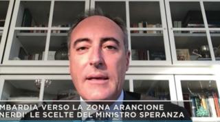 """Gallera: """"In Lombardia adesso abbiamo dati quasi da zona gialla"""""""