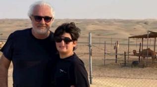 Flavio Briatore e Nathan Falco in vacanza a Dubai