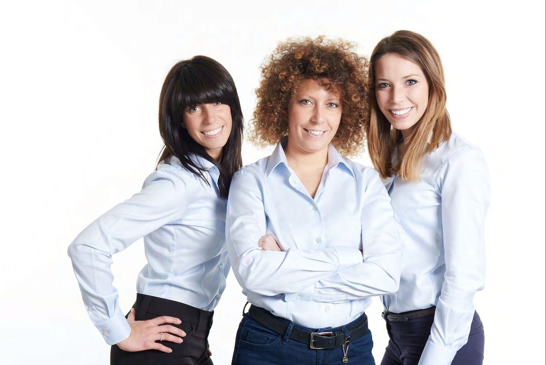 Margherita, Viola e Iris Verga, imprenditrici e manager di Sacco
