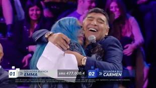 """Quando Loredana Bertè chiese l'autografo a Maradona ad """"Amici"""""""