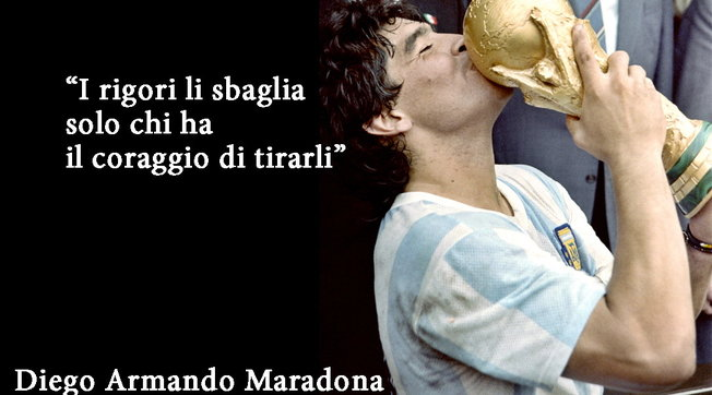Diego Armando Maradona, le sue frasi celebri