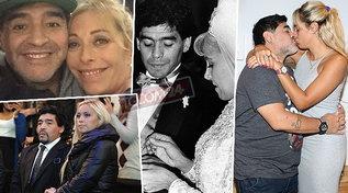 Una moglie e molte amanti: gli amori turbolenti di Diego Armando Maradona