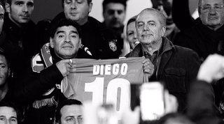 """De Laurentiis scrive a Diego: """"Giusto intitolarti il San Paolo per averti ancora con noi"""""""