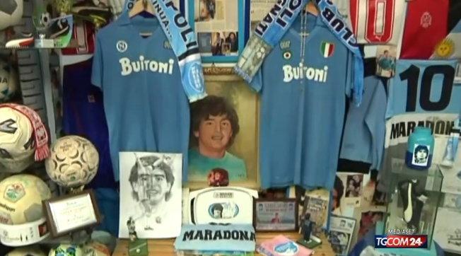 A Piscinola (Napoli) la casa museo di Maradona | Video