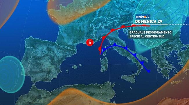 Meteo, nel weekend maltempo e forti venti | Rischio nubifragi in Sardegna