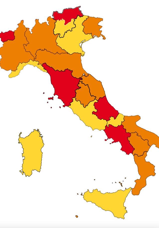 Lombardia, Piemonte e Calabria da zona rossa diventano arancione | Area gialla per Liguria e Sicilia | La nuova mappa |Cosa è vietato e cosa no