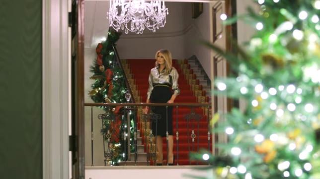 La Casa Bianca decorata per l'ultimo Natale di Melania da First lady