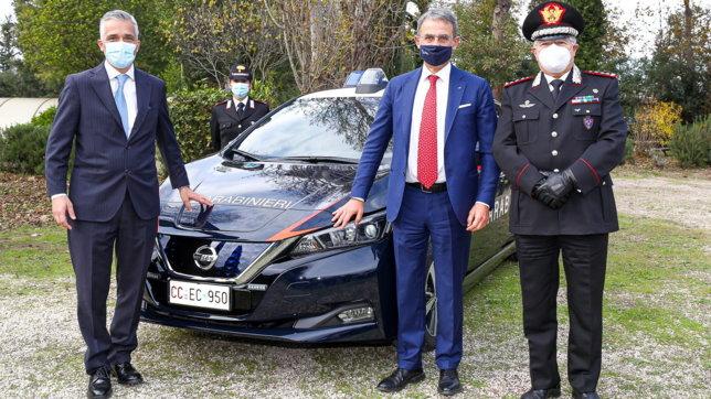 Ai Carabinieri 52 Nissan Leaf
