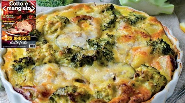Torta salata rustica di broccoli e patate
