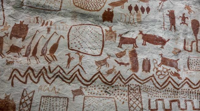 """Colombia, la """"Cappella Sistina degli antichi"""":13 km di pitture rupestri di 12.500 anni fa"""