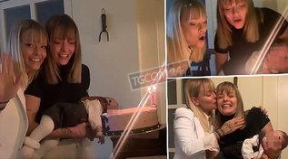 Le Donatella al primo compleanno da mamma e da zia