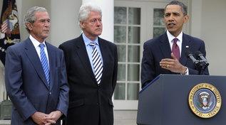 Obama, Bush e Clinton uniti contro il Covid: si vaccineranno in diretta tv