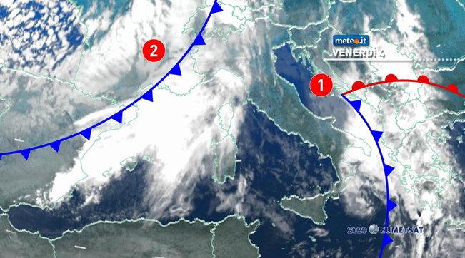 Una nuova perturbazione sta portando forti nevicate e piogge violente da Nord a Sud