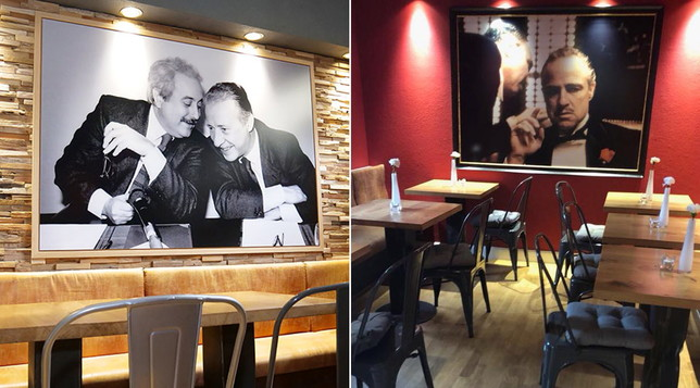 """Germania, nella pizzeria """"Falcone e Borsellino"""" la foto dei magistrati accanto a quella del Padrino"""