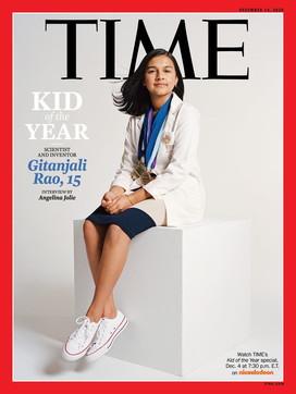 """La prima copertina del """"Time"""" per la """"ragazza dell'anno""""allascienziata 15enneGitanjali Rao"""