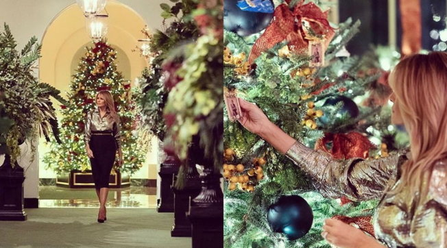 Melania odia il Natale? La Casa Bianca è addobbata ma...