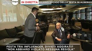 """Party Elisa De Pacis in hotel a Milano, il titolare: """"Abbiamo seguito le regole"""""""