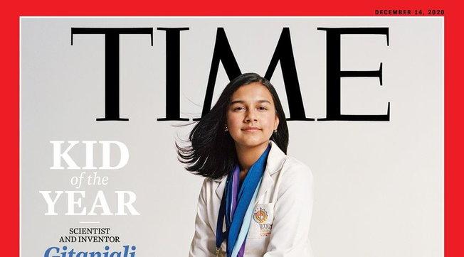 """""""Time"""", la prima copertina per la ragazza dell'annoalla 15enneGitanjali Rao"""