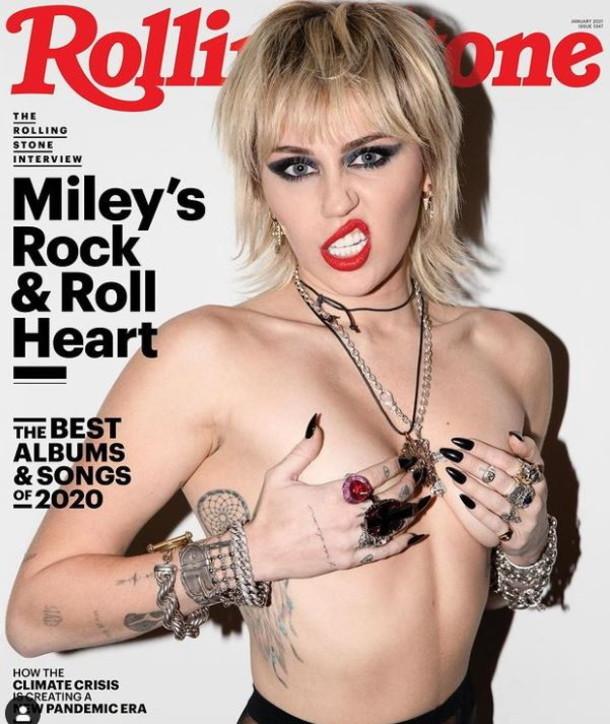 Il topless rock di Miley Cyrus