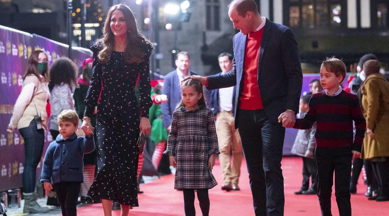 Kate e William per la prima volta sul red carpet con i principini