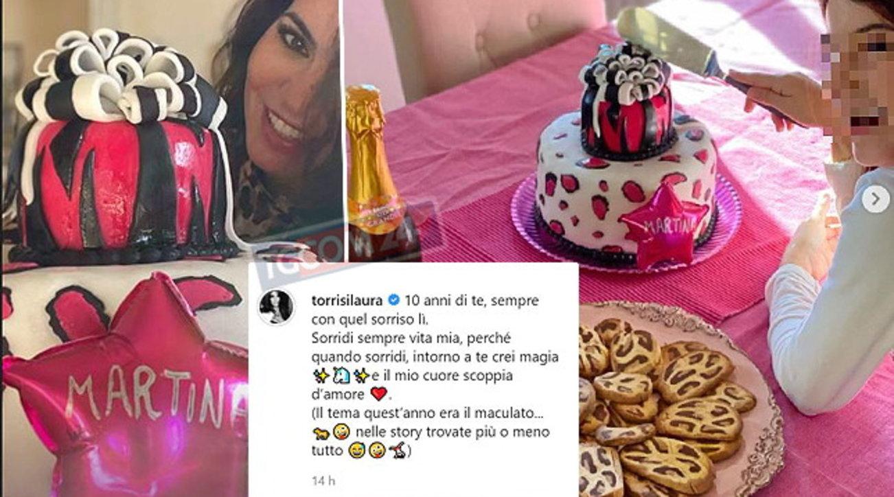Laura Torrisi festeggia i 10 anni di Martina Pieraccioni