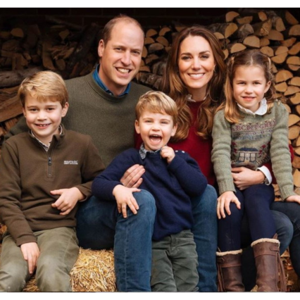 The Christmas card of the Dukes of Cambridge