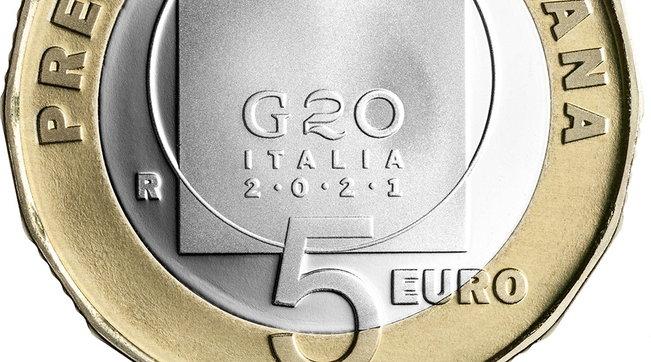 Mef, ecco la moneta da 5 euro per celebrare la presidenza italiana del G20