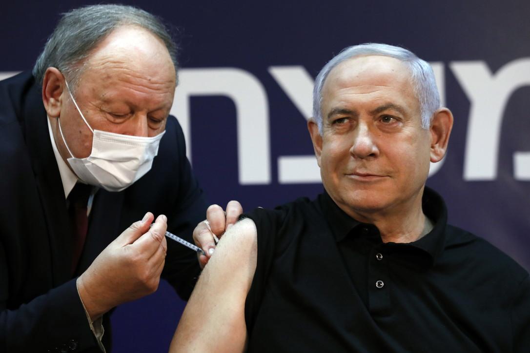 Covid, il premier israeliano Netanyahu si è vaccinato in diretta tv -  Tgcom24