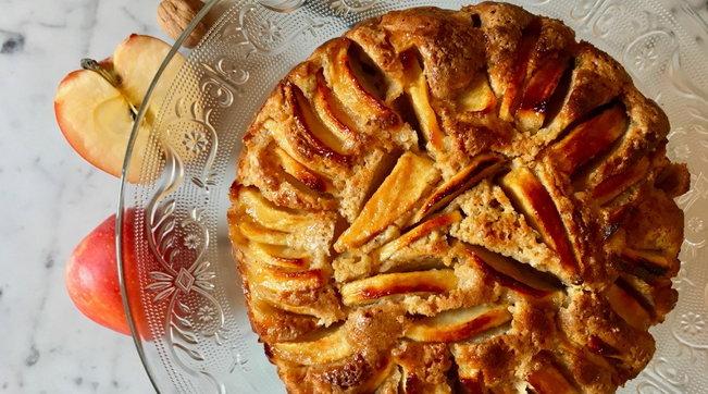 Torta rustica di mele al grano saraceno